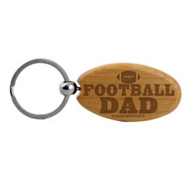 Football Dad Maple Key Chain