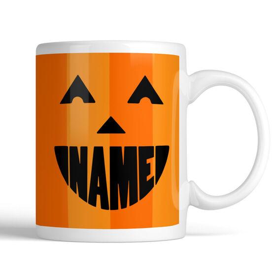 Pumpkin Face Personalized Mug