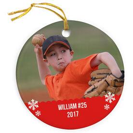 Baseball Porcelain Ornament Custom Personalized Photo