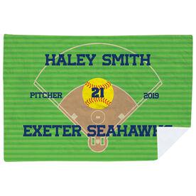 Softball Premium Blanket - Personalized Softball Team