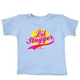 Softball Baby T-Shirt Lil Slugger Girl