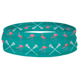Guys Lacrosse Multifunctional Headwear - Flamingos and Crossed Sticks RokBAND