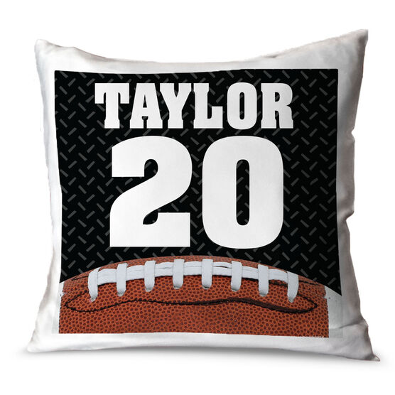 Football Throw Pillow Personalized Football Photo