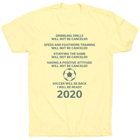 Soccer Short Sleeve T-Shirt - Soccer Will Be Back 2020 ($5 Donated to the American Red Cross)