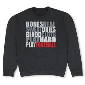 Football Crew Neck Sweatshirt - Bones Saying