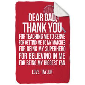 Tennis Sherpa Fleece Blanket Dear Dad
