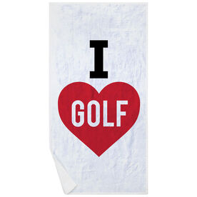 Golf Premium Beach Towel - I Love Golf