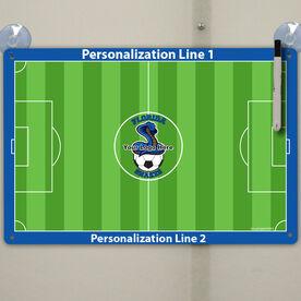 "Soccer Custom Dry Erase Coach Board Full Field - 18"" X 12"""