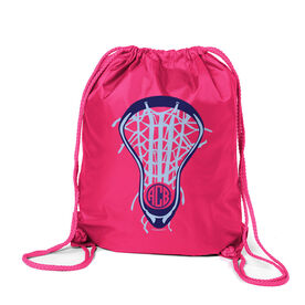 Lacrosse Sport Pack Cinch Sack Lax is Life with Monogram