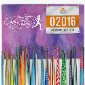 Running Large Hooked on Medals and Bib Hanger - Words to Run By