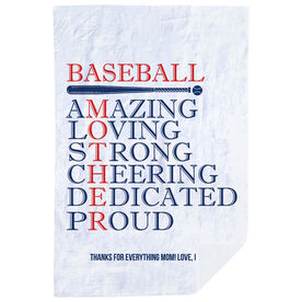 Baseball Premium Blanket - Mother Words