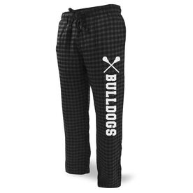 Lacrosse Lounge Pants Team Name with Lacrosse Sticks
