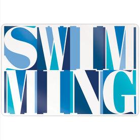 "Swimming 18"" X 12"" Aluminum Room Sign - Swimming Mosaic"