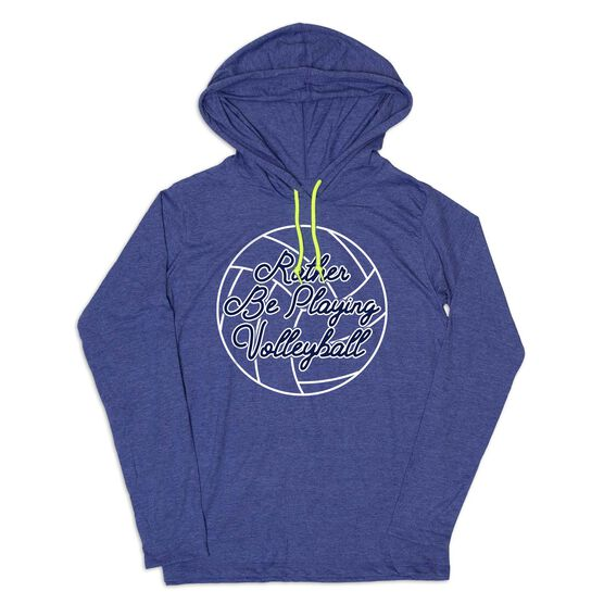 Women's Volleyball Lightweight Hoodie - I'd Rather Be Playing Volleyball