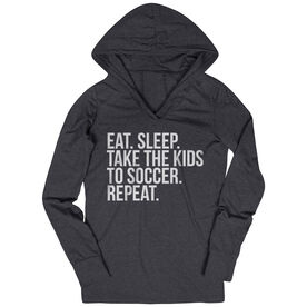 Soccer Lightweight Performance Hoodie - Eat Sleep Take The Kids To Soccer