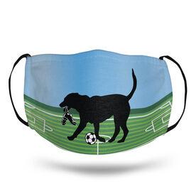 Soccer Face Mask - Spot the Soccer Dog Field