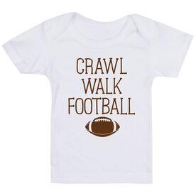 Football Baby T-Shirt - Crawl Walk Football