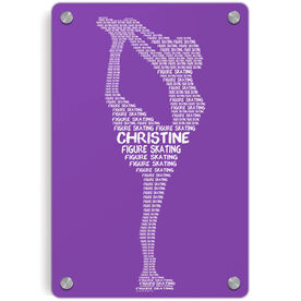 Figure Skating Metal Wall Art Panel - Personalized Figure Skating Words