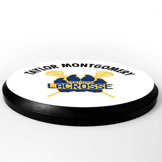 Girls Lacrosse Circle Plaque - Custom Logo
