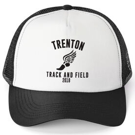 Track & Field Trucker Hat - Team Name With Curved Text