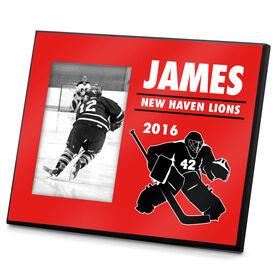 Hockey Personalized Photo Frame Hockey Goalie