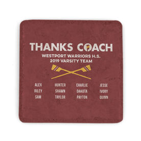Crew Stone Coaster - Thanks Coach Roster