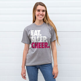Cheerleading T-Shirt Short Sleeve Eat. Sleep. Cheer.