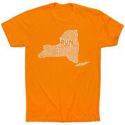 Running Short Sleeve T-Shirt - New York State Runner