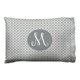 Personalized Pillowcase - Single Initial with Quatrefoil