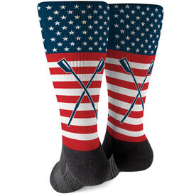 Crew Printed Mid-Calf Socks - USA Stars and Stripes