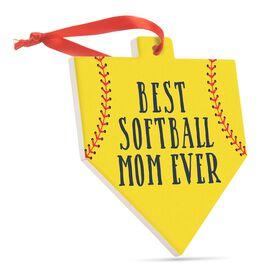 Softball Home Plate Ceramic Ornament - Best Softball Mom Ever