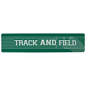 """Track and Field Aluminum Room Sign - Track and Field Lanes (4""""x18"""")"""