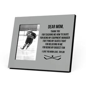 Hockey Photo Frame - Dear Mom Thank You