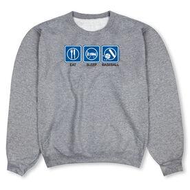 Baseball Crew Neck Sweatshirt - Eat Sleep Baseball