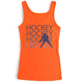 Hockey Women's Athletic Tank Top Fade