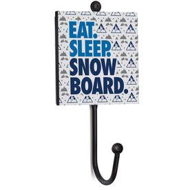 Snowboarding Medal Hook - Eat. Sleep. Snowboard.