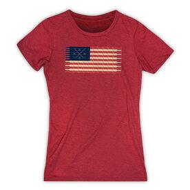 Hockey Women's Everyday Tee - Hockey Laces Flag