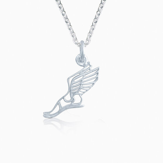 Livia Collection Sterling Silver Winged Foot Necklace
