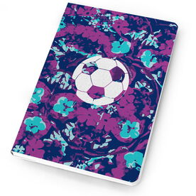 Soccer Notebook - Flower Power with Soccer Ball