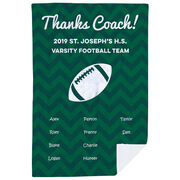 Football Premium Blanket - Personalized Thanks Coach Chevron