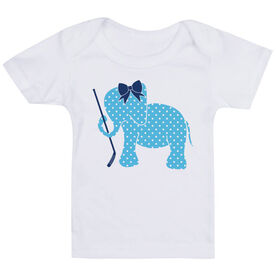 Hockey Baby T-Shirt - Hockey Elephant with Bow
