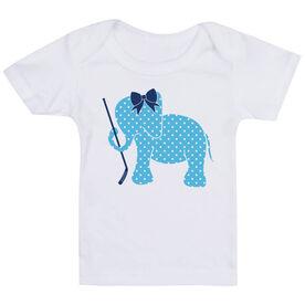 Hockey Baby T-Shirt - Hockey Elephant with Bow