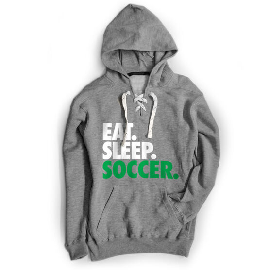 Soccer Sport Lace Sweatshirt Eat. Sleep. Soccer.