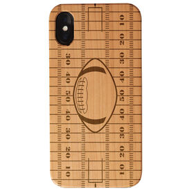 Football Engraved Wood IPhone® Case - Field With Football