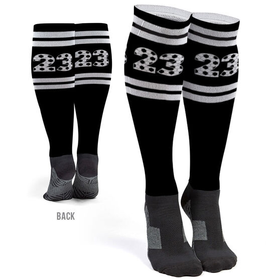 Soccer Printed Knee-High Socks - Custom Numbers
