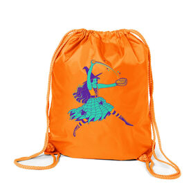 Softball Sport Pack Cinch Sack - Witch Pitch
