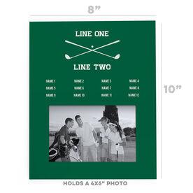 Golf Photo Frame - Team Roster