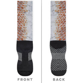 Fly Fishing Printed Mid-Calf Socks - Redfish
