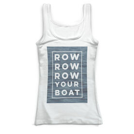 Crew Vintage Fitted Tank Top - Row Row Row Your Boat