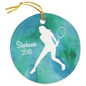 Tennis Porcelain Ornament Silhouette